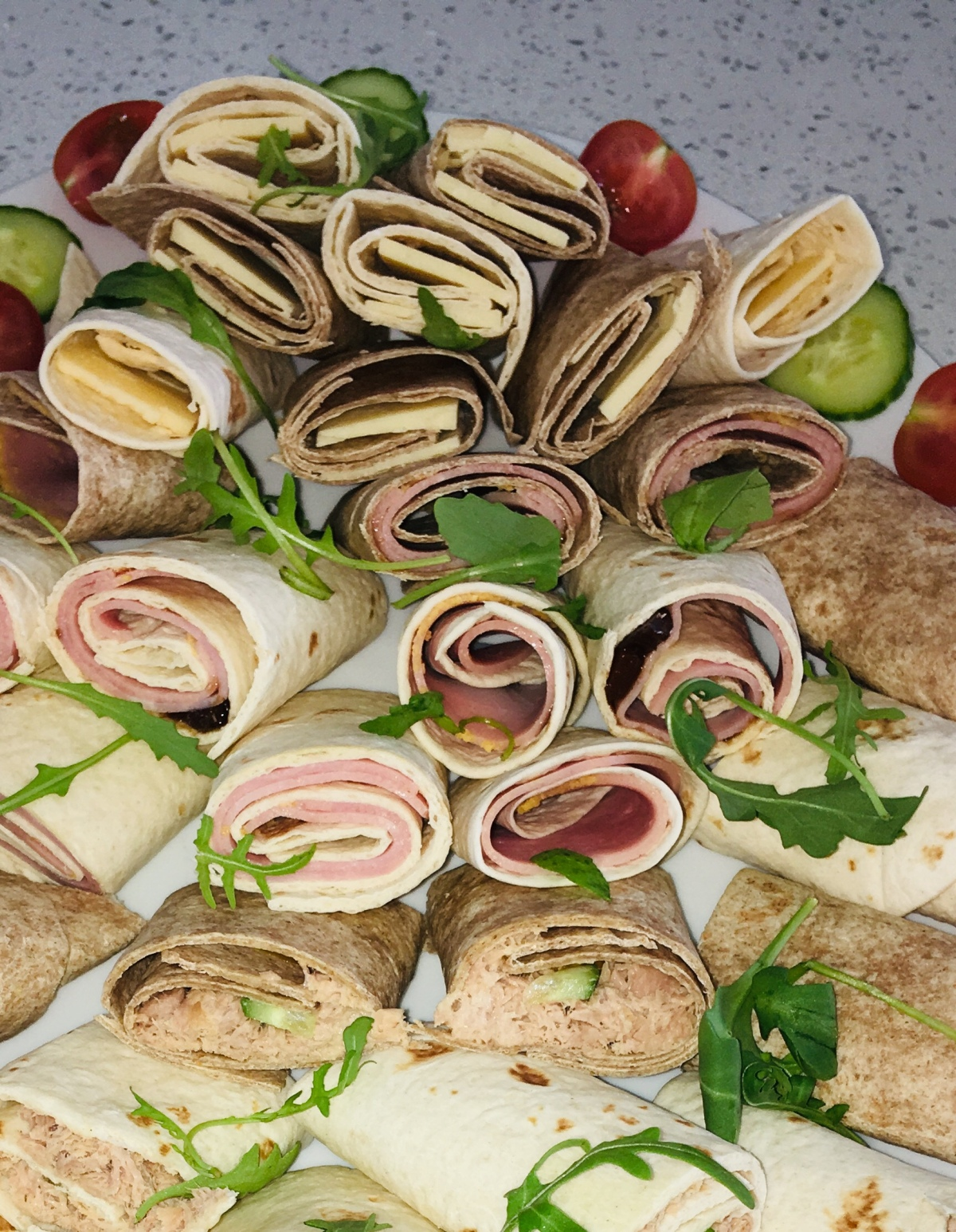 Wrap Platter For A Hungry Gathering Of Mini Eaters