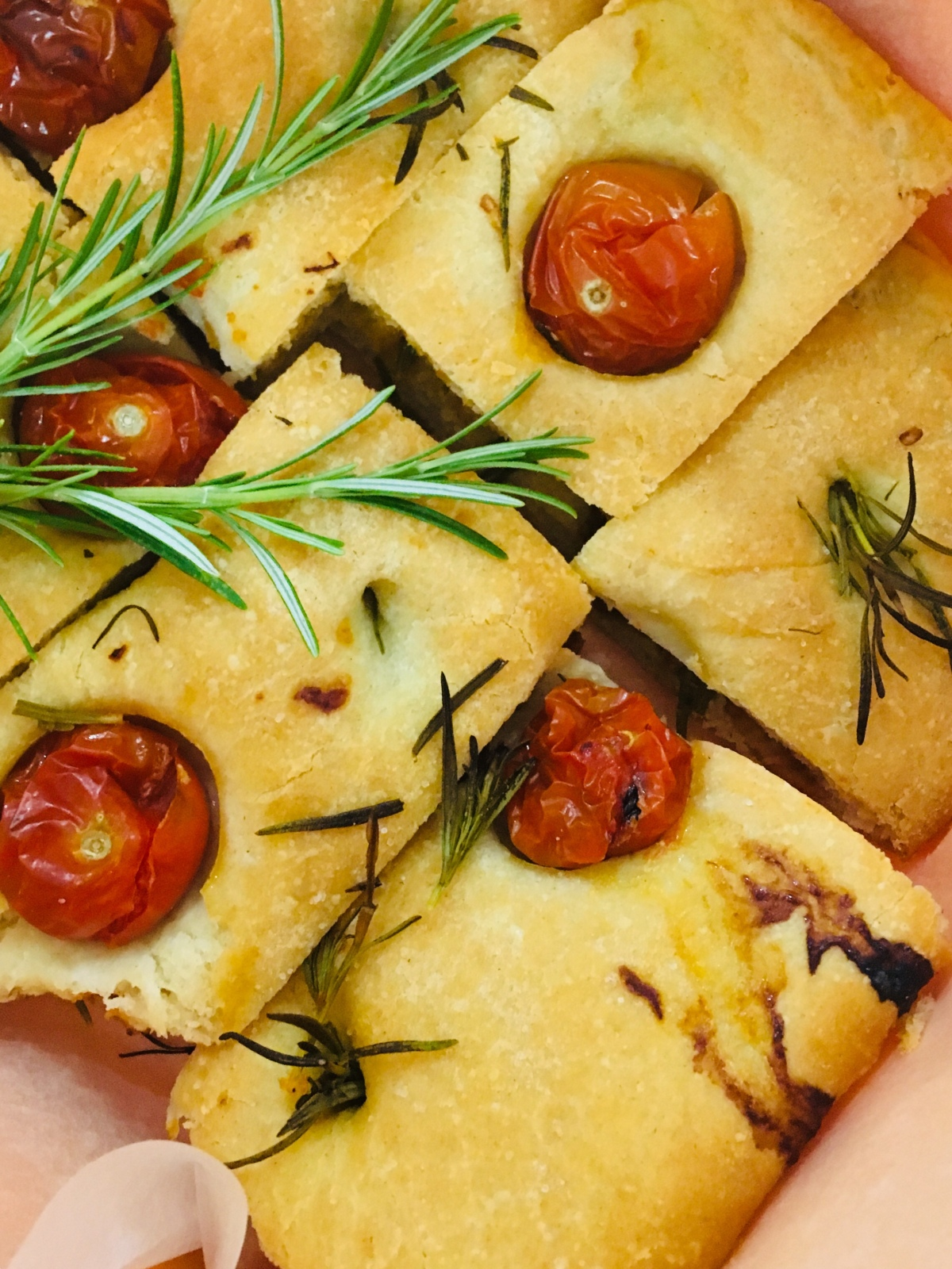 Focaccia Stuffed With Pesto & Tomatoes