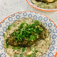 Spiced Zahtar Chicken With Lentils