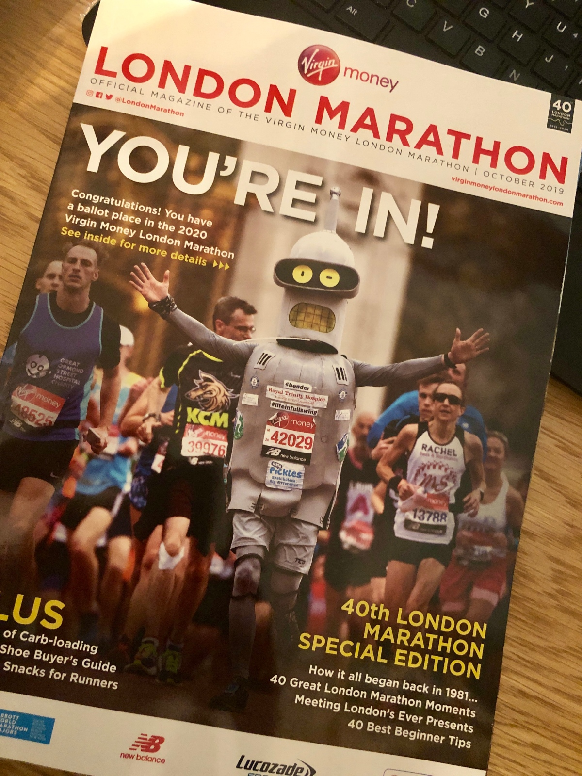 It's me – I'm back and I have (London Marathon) news!
