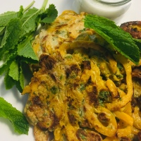 Butternut Squash Bhajis With Mint Dip - One Quid Meal 👍🏻