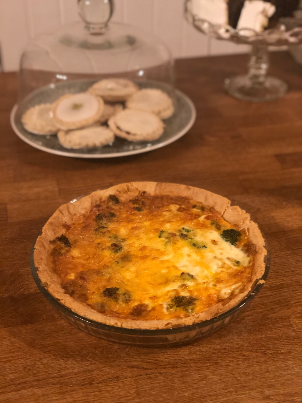 Not sure what to cook? Try this simple quiche made from leftovers